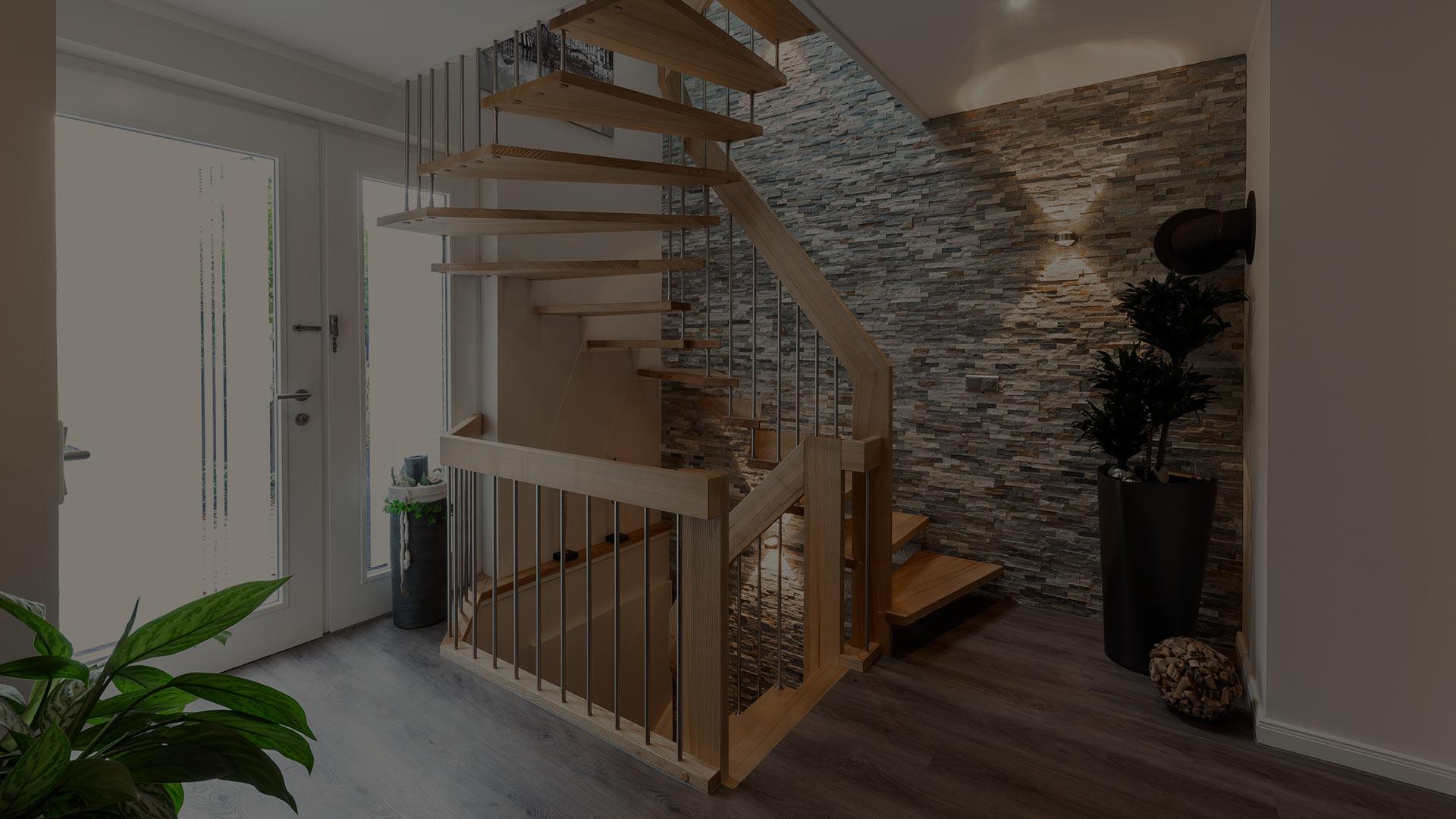 Handlauftragende Treppen